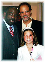 Mark, Maya and Les Brown